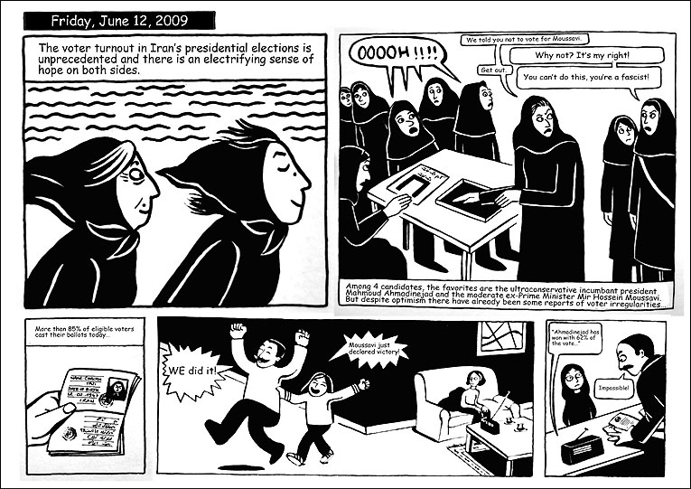 the social rebellion of marji in the book persepolis by marjane satrapi Although in persepolis marjane satrapi represents the veil in a way that is consistent with a western viewpoint of it being part of a systematic oppression of women, she also counters the representation of middle eastern women as passive, oppressed and monolithic by illustrating acts of overt and subtle resistance to the veil and the regime.