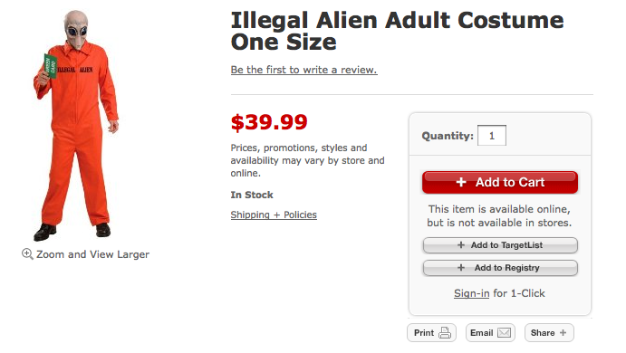 Culture Shockers Target Says No To Illegal Alien Costumes  sc 1 st  Meningrey & Illegal Alien Costume - Meningrey